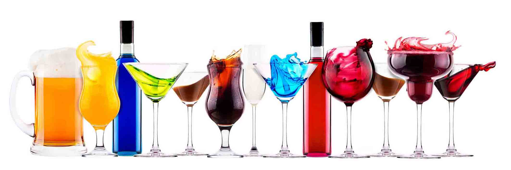 29365958 - set of different alcoholic drinks and cocktails - beer,martini,soda,champagne,whiskey,wine,cola,cocktail